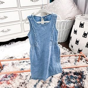 4T Muted Heather Blue Dress